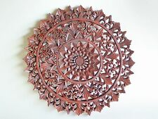 Beautiful Ornate Balinese Hand Made Wooden Carved Wall Plaque 40cm.....