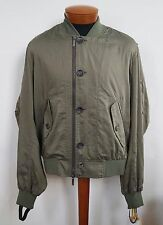 $1300 Authentic JOHN GALLIANO RUNWAY Cotton Silk BOMBER Jacket IT-50 US-40 ITALY