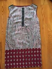 NWOT$298 Anthropologie LAUREN MOFFATT silk shift dress floral embroidered 6, 8-M