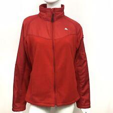 72042ed519 Snozu Outerwear Fleece Full Zip Jacket Womens XL Red