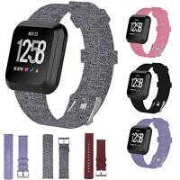 Armbänder aus Stoffband mit rostfreiem Metallverschluss für Fitbit Versa Tracker