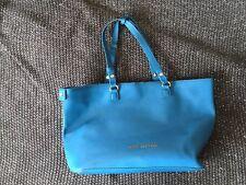 Bag Tote Aqua Blue Diamonte Trim On Strap Leather Juicy Couture Brand New