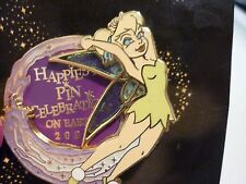 HAPPIEST PIN CELEBRATION DISNEY EPCOT PIN TINKERBELL 2005 SPINNER LE 750 !!!!!