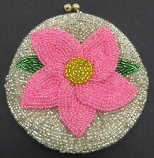 Vintage Women's Floral Beaded Coin Purse