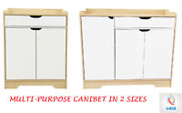 Multipurpose Natural Wooden Storage Cabinet Cupboard Organizer Sideboard 2 Sizes
