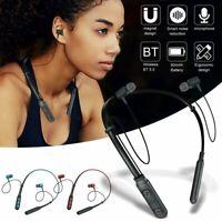 Sport Bluetooth Neckband Wireless Headphones Mic Headset Stereo Earbuds Earphone