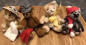Merrythought Set Of Four - The Four Seasons Limited Edition Teddybears