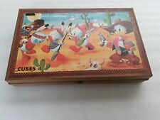 40 cubes jeu d'éveil vintage Donald Disney