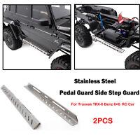 2 * Durable Edelstahl Sidestep Guard Für Traxxas TRX-6 Benz 6 × 6 RC Auto Teile