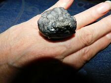 STUNNING ASTROPHYLLITE ? GREY GEODE STATEMENT RING ON GREY LUSTRE SZ Q BIG LUMP