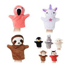 Handpuppen für Kinder Handspielpuppen 8er Set Tierpuppen Einhornpuppe aus Stoff