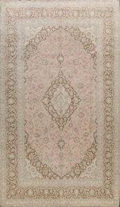 Muted Floral Semi Antique Handmade Traditional Vintage Distressed Area Rug 8x11