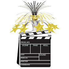 Hollywood MOVIE SET CLAPBOARD Metallic CENTERPIECE Party Decoration AWARD NIGHT