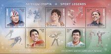 2013. Russia. Winter Games. Sochi-2014. Sports Legends. S/sheet. MNH