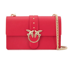 Women Accessories Pinko Love Bag Big Leather Red Chain Shoulder Bag