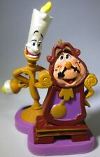 LUMIERE & COGSWORTH Disney BEAUTY AND THE BEAST Movie PVC TOY Cake Topper FIGURE