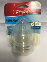 Playtex VentAire Nurser 2 Wide Silicone Replacement Nipples Fast Flow 3-6+ mos