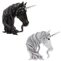 Large Jewelled Unicorn Head Bust Art Gifts Decoration Ornament Figurine Statue