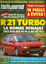 1987 L'Auto-Journal Magazine: La Bombe Renault Face Aux 405 Mi 16 et BX GTI 16S