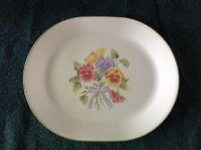 Corelle Dinnerware  SUMMER BLUSH PANSY Oval Serving Platter Tray