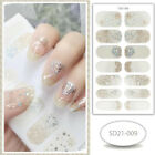14 Styles Nail Art Wraps Full Size Stickers Decals Fashion Self-Stick Decoration