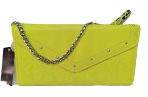 No BOUNDARIES YELLOW WRISTLET PURSE WITH YELLOW AND BLACK MONEY CARD WALLET...