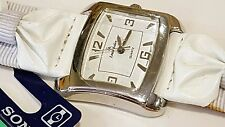 Louis Arden Quartz watch knot white band Dial Girls Woman
