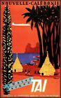 Nouvelle Calédonie 1953 TAI Air Travel Vintage Poster Print Decor New Caledonia