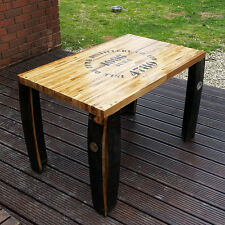 Recycled Oak whiskey Barrel Solid Wooden Coffee Table Isle of Jura Vintage