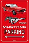Parking Sign Metal MUSTANG CONVERTIBLE 1966 - 04 RED