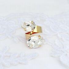 Lágrima Diamante Anillo De Serpiente Con Elementos Swarovski ™ cristalizada Ajustable