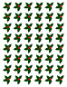 48 X HOLLY & BERRY LEAVES - CHRISTMAS - EDIBLE CUPCAKE CAKE TOPPERS D4