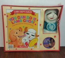 Vntge Shari Lewis Lamb Chop Puppet And Book Box Set Lamb Chop's Fables Sealed