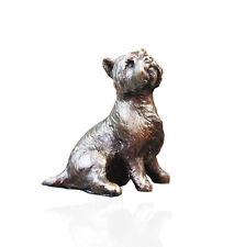 More details for westie dog sitting bronze - ltd ed 250 michael simpson.