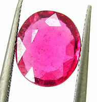 2.26 Ct Natural Certified Ruby Loose Gemstone Oval Cut Mozambique Stone - 133037