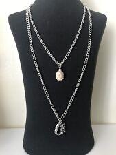 Dragon Necklace Pendant Silver Tone Chain Gift Unusual Goth Emo Tock Unisex