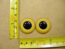 une paire vintage solide Poupée yeux en verre Ø 23 mm Bisque TEADY ourson