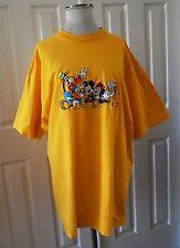 Mickey T-Sh 00006000 irt Unisex Yellow Mickey & Friends Logo Stretch Plus Size Xxxl
