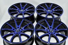 16 blue wheels rims Optima Soul Jetta Golf XB Tiburon Elantra Vibe 5x100 5x114.3
