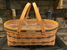 1999 Longaberger Generosity Basket with handles and divider protector