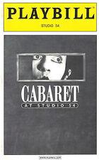 "Molly Ringwald ""CABARET"" Neil Patrick Harris / Kander and Ebb 2003 Playbill"