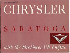 [61457] 1952 CHRYSLER SARATOGA WITH V-8 ENGINE SALES BROCHURE