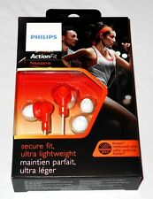 Philips ActionFit In-Ear Sports Headphones Sweat Proof SHQ2300OR Orange New!