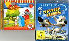 HörspielCD BENJAMIN BLÜMCHEN als Müllmann+Blu-ray SPACE DOGS RussischDeutsch NEU
