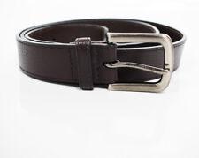 David Jones Mens Leather Belt Brown Size 40