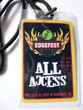 Edgefest 1999 Tour Issued Used Backstage Pass Laminate Blink 182 Collective Soul