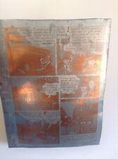 RARE plaque d'imprimerie Tardi Nestor Burma Impression