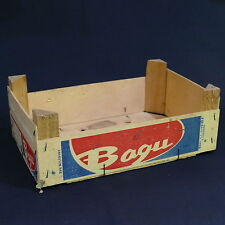"Vintage Bagu Small Wood Store Display Tray Crate ~ 11½"" x 7½"" x4"""