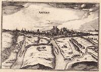 Gravure XVIIe Vue de la Ville d'Amiens Somme Picardie Christophe Tassin 1634