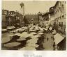 Italia, Verona, Marktplatz  Vintage albumen print. Vintage Italy Tirage albumi